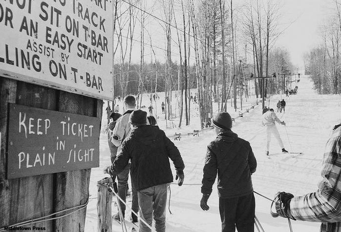 The Lower T-Bar circa the 1960s