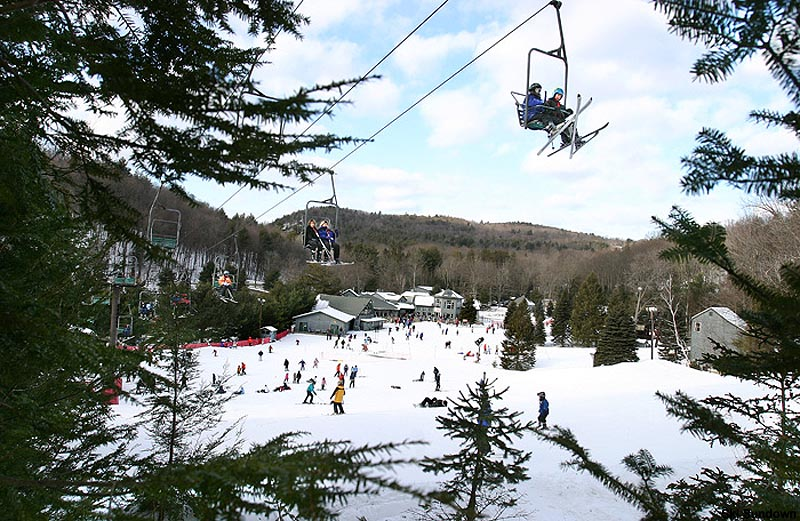 The Little Joe double chairlift circa the 2000s or early 2010s
