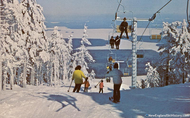 The double chairlift circa the late 1960s or early 1970s