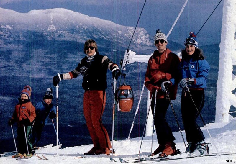The lift line (background) (1980s)