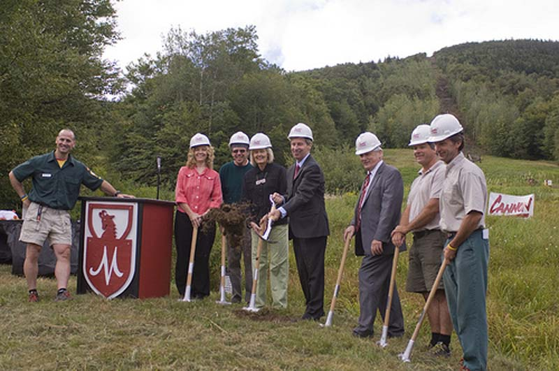 Mittersill Double groundbreaking Governor John Lynch in 2010