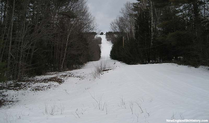 The former North Chair lift line in 2007