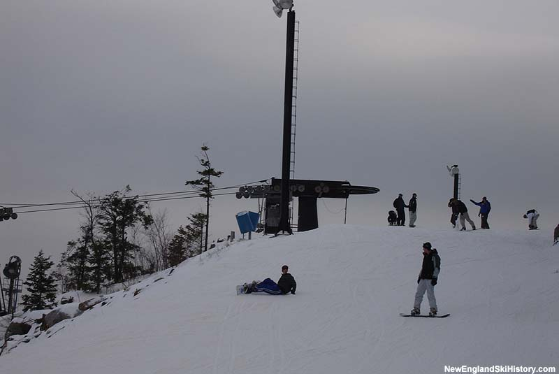 The top of the Summit Quad in 2005