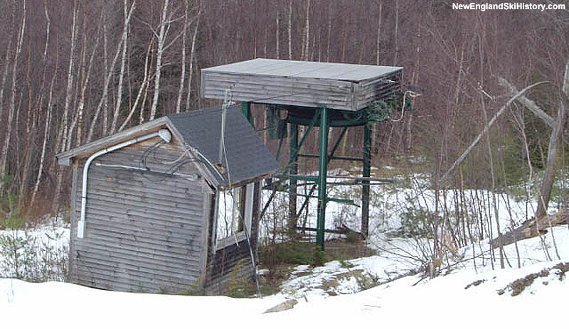 The remains of the Summit T-Bar in 2004