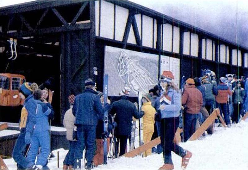 The Loon Gondola base circa the 1970s