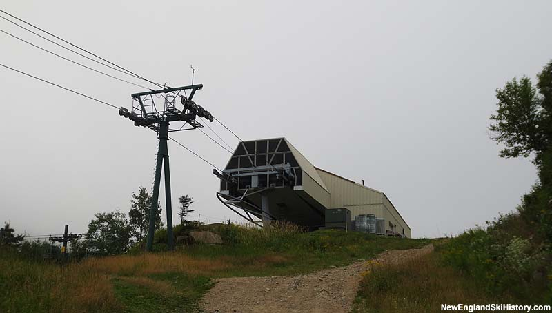 The Loon Gondola top terminal in 2012