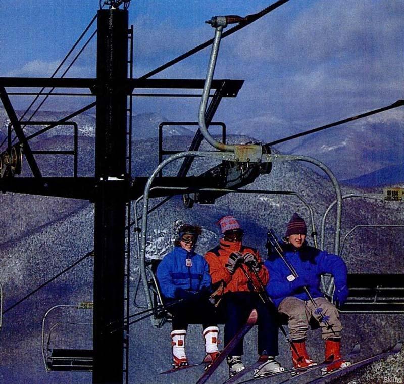 The North Peak Triple circa the 1980s