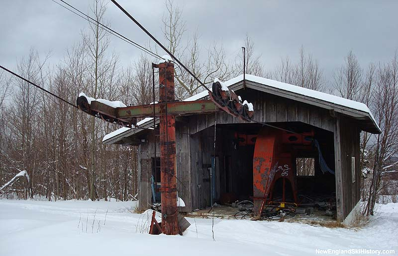 The old Mittersill Double Chair base terminal in February 2008