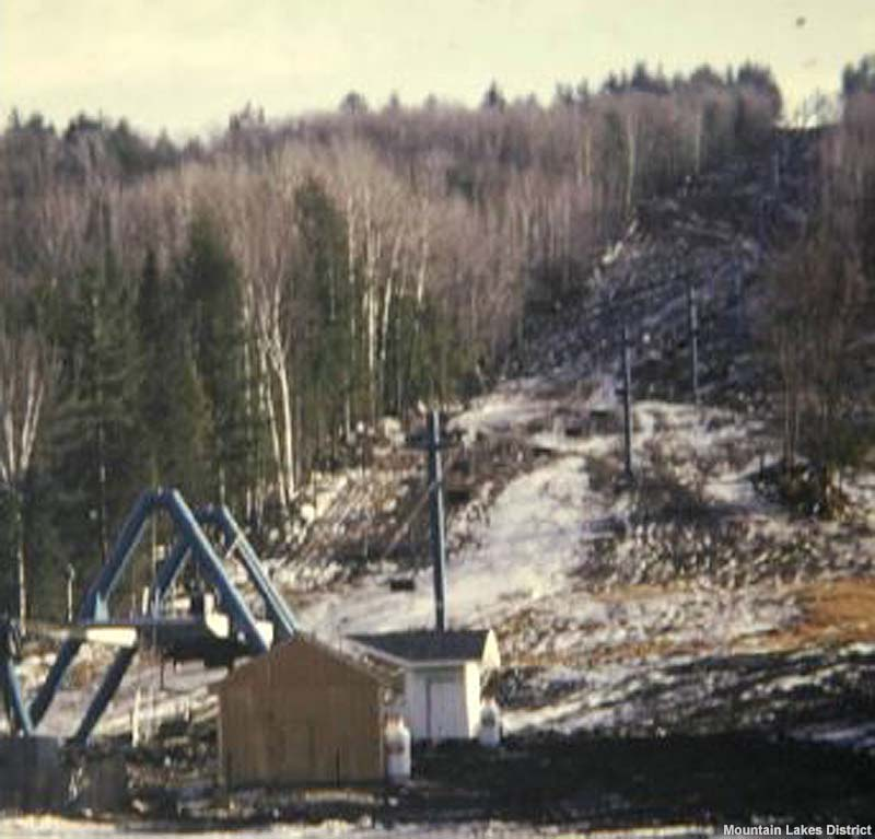 The double chairlift in the early 1970s