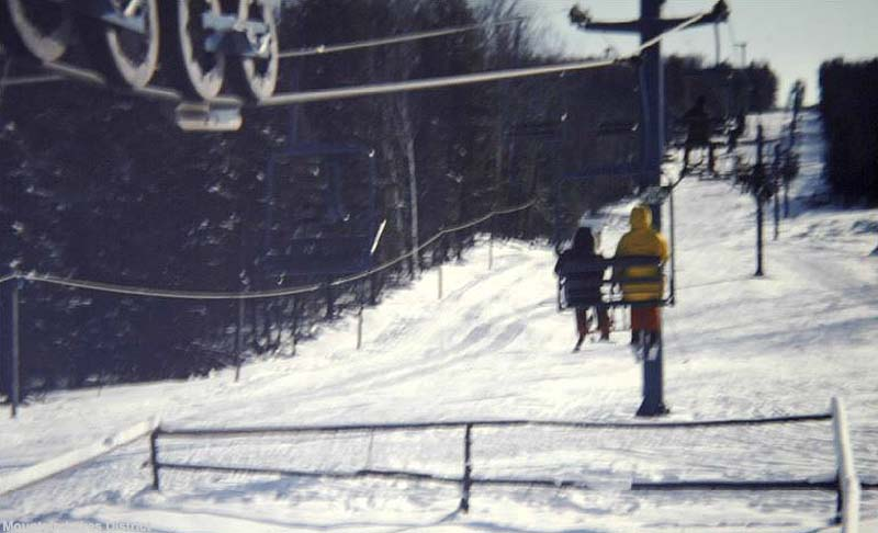 The double chairlift circa the 1970s