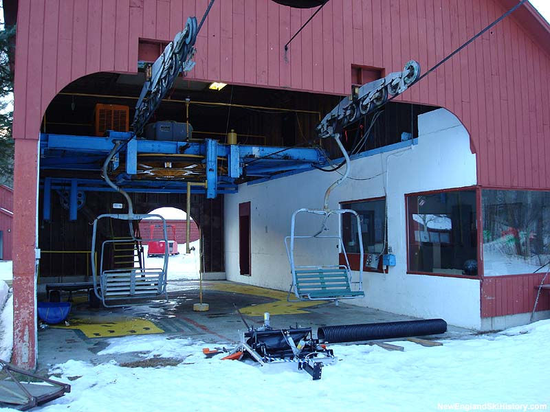 The Snows Mountain Double Chair bottom terminal in 2007
