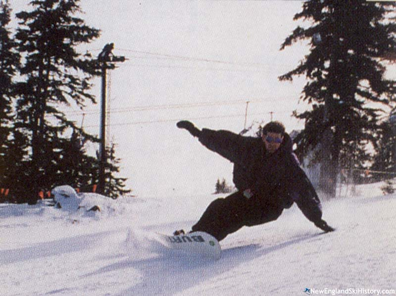 The Main T-Bar (background) circa the 1990s