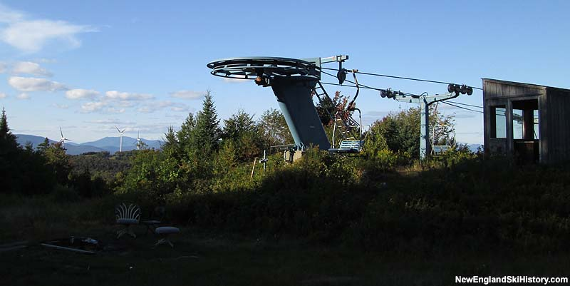 The top of the Hornet Double with Groton Wind in the background in 2014