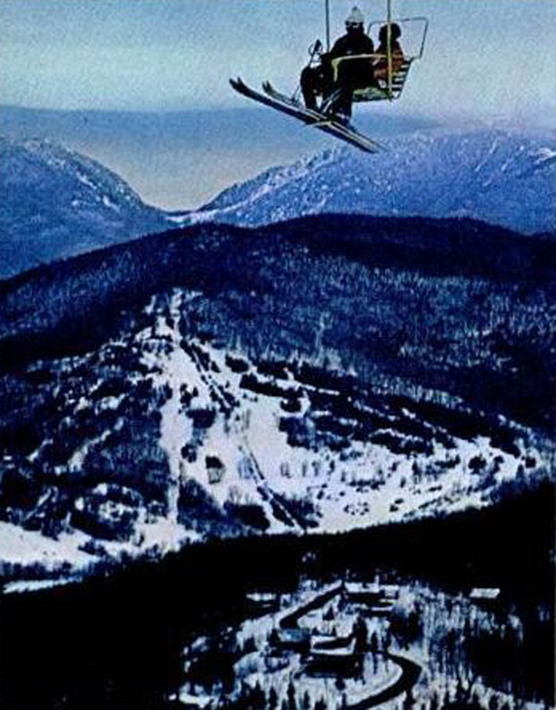 The double chairlift circa 1969 or 1970
