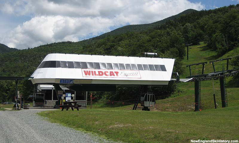 The Wildcat Express Quad with gondolas in 2007