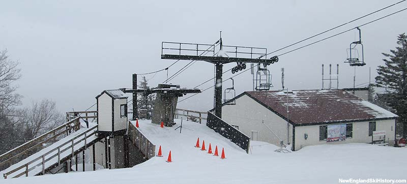 The Alpine Chairlift (left) in 2014