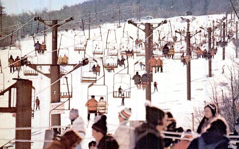The lift line (background) (1970s)