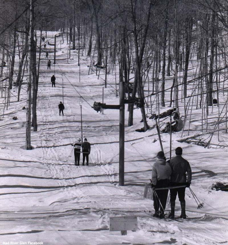 The Practice Slope T-Bar circa the 1960s