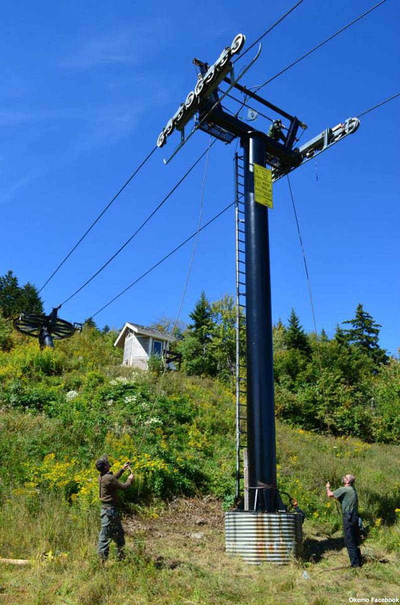 Maintenance on the Black Ridge Triple in 2013