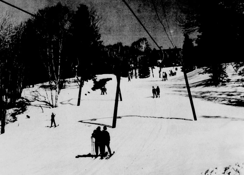 The lift line (right) circa 1963