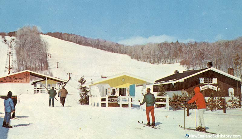 The Little Spruce Double (left) circa the 1960s