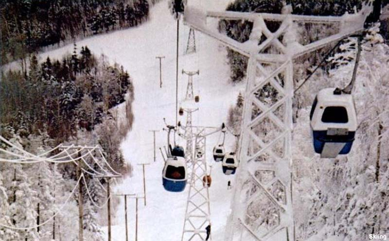 The lift line circa the early 1970s