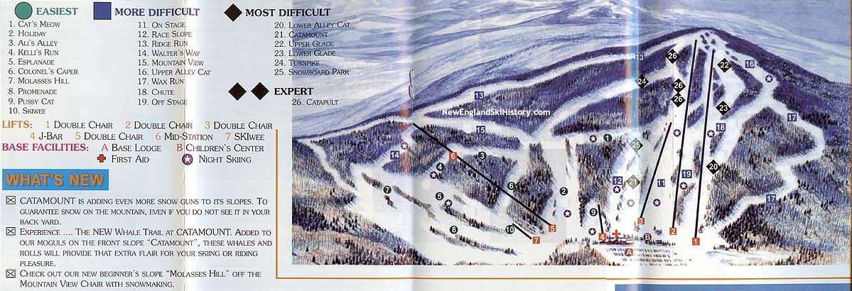 1999-00 Catamount Trail Map - New England Ski Map Database ... on