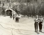 The Mt. Mansfield T-Bar circa the 1940s