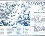 1969-70 Powder Hill trail map
