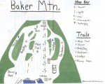 2018-19 Baker Mountain Trail Map