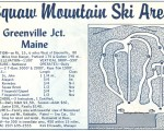 1964-65 Squaw Mountain Ski Area Trail Map