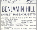 1970-71 Benjamin Hill Trail Map