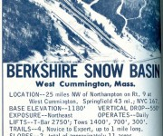 1967-68 Berkshire Snow Basin Trail Map