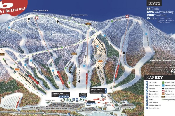2020-21 Ski Butternut Trail Map