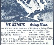 1967-68 Mt. Watatic Trail Map