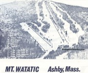 1970-71 Mt. Watatic Trail Map