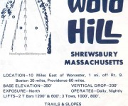 1969-70 Ward Hill trail map