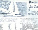 1964-65 Brookline Ski Area Trail Map