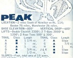 1967-68 Pats Peak Trail Map