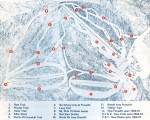 1969-70 Middlebury College Snow Bowl trail map