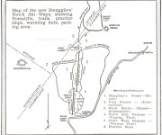 1958-59 Smugglers Notch Trail Map