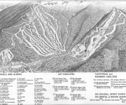 1963-64 Stowe Trail Map