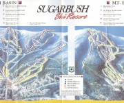 Mid to late 1980s Sugarbush trail map