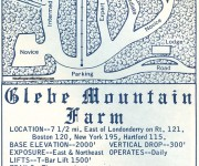 1964-65 Glebe Mountain Farm Trail Map