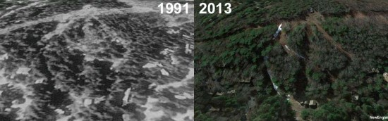 Lakeridge Ski Area Aerial Imagery, 1991 vs. 2013