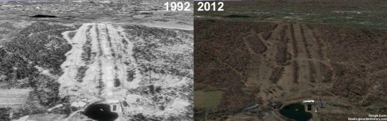 Powder Ridge Aerial Imagery, 1992 vs. 2012