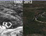 Ski Sundown Aerial Imagery, 1992 vs. 2012