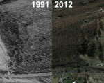 Woodbury Aerial Imagery, 1991 vs. 2012