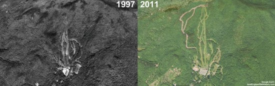 Black Mountain Aerial Imagery, 1997 vs. 2011