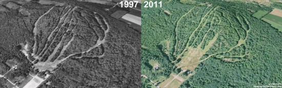 Eaton Mountain Aerial Imagery, 1997 vs. 2011